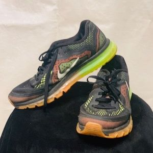 Used Worn Size 11.5 Nike Air Max 2014 Shoes Black,